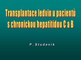 Chronické hepatitidy