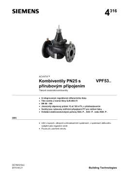 Product data sheet Combi valves, flanged connections