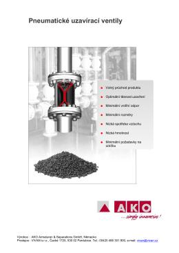 Katalog uzavíracích ventilů