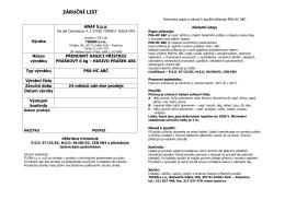 ANAF-záruční list 6 HC