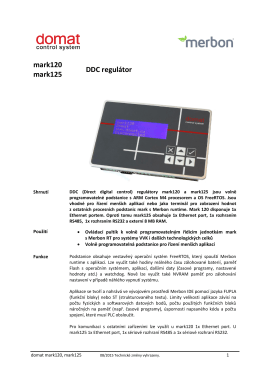 mark120 mark125 DDC regulátor