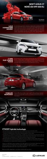 luxus s kompaktními rozměry noVě od 599 000 kč noVÝ lexus ct