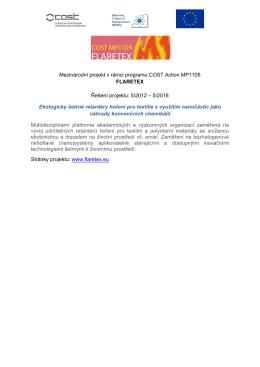 Mezinárodní projekt v rámci programu COST Action MP1105
