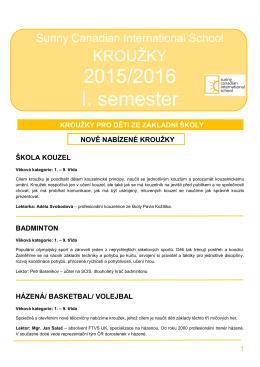 2015/2016 I. semester