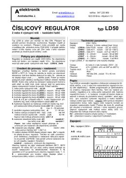 1. regulátor s displejem ld50 - A