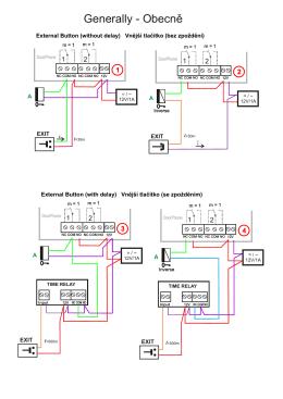 Příklady připojení odchodového tlačítka