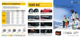 500 Kč - Servis 5+
