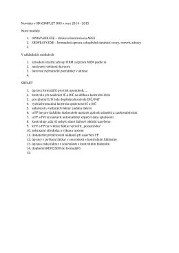 Novinky v roce 2014 a 2015 v SB KOMPLET ® u v pdf pro Acrobat