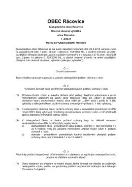 Vzor obecně závazné vyhlášky obce o stanovení