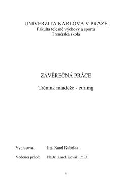TRÉNINK MLÁDEŽE – CURLING (autor: Karel