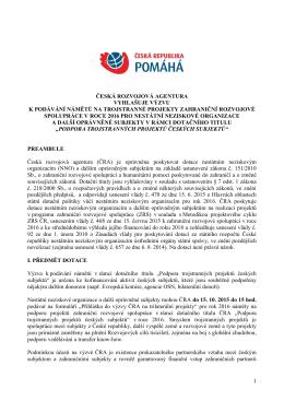 dokumentu - Česká rozvojová agentura