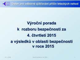 Výroční porada k rozboru bezpečnosti za 4. čtvrtletí 2015 a výsledků