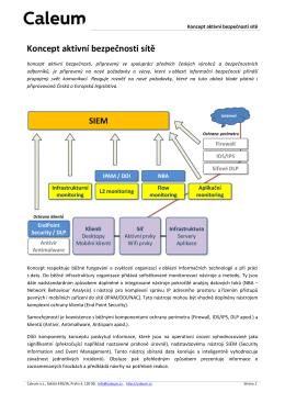 Caleum Koncept aktivní bezpečnosti sítě obecný