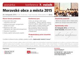 Moravské obce a města 2015