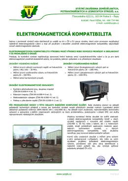 Elektrika EMC - Státní zkušebna zemědělských, potravinářských a