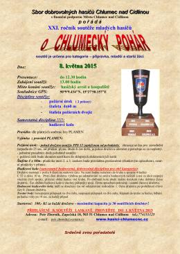 Pozvánka do Chlumce nad Cidlinou na soutěž