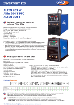 Alfin 300 T invertor. svářečka