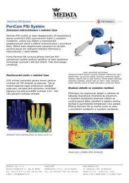 Brožura - specifikace PeriCam PSI