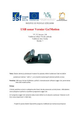 USB sonar Vernier Go!Motion