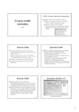 Úvod ke CASE nástrojům