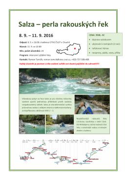 Salza – perla rakouských řek