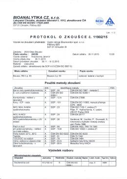Protokol o zkoušce PiVo