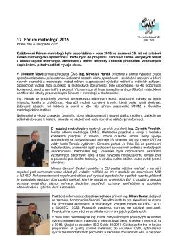 17. Fórum metrologů 2015