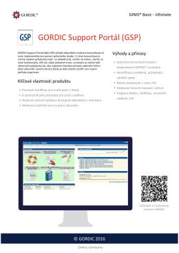 GORDIC Support Portál