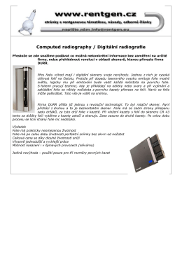 Computed radiography / Digitální radiografie