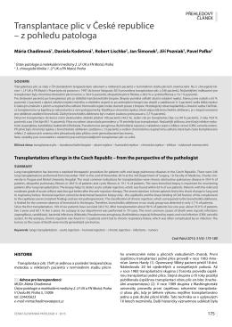 Abstrakt - česko-slovenská patologie