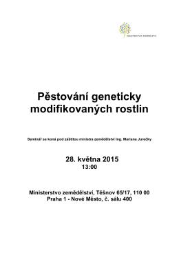 Pozvánka na seminář MZe