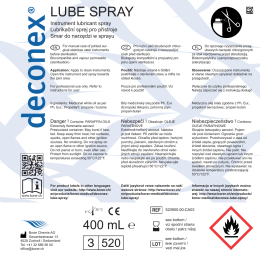 LUBE SPRAY - Borer Chemie