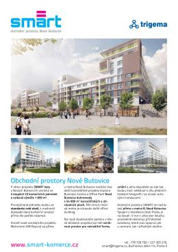Obchodní prostory Nové Butovice - SMART = Chytré bydlení Nové