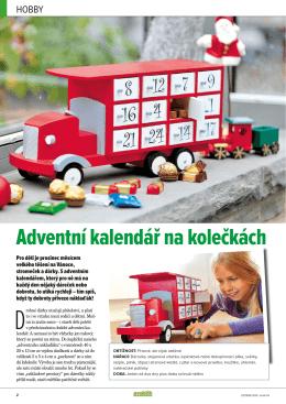 Adventní kalendář na kolečkách