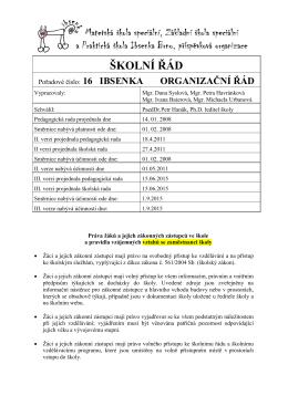 školní řád a pravidla pro hodnocení žáků 2015- [462] Kb
