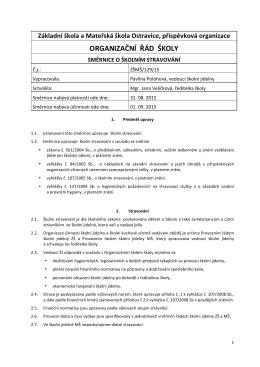 Směrnice o školním stravování