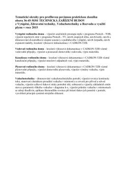Maturitní opakovací okruhy z praktické maturitní zkoušky