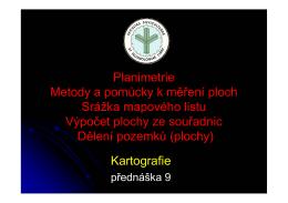 Přednáška 9