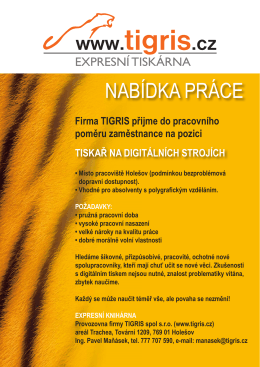Inzerát Tigris