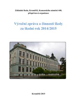 2014/2015 - Základní škola, Kroměříž, Komenského náměstí 440