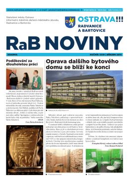 březeN 2015 - Radvanice a Bartovice