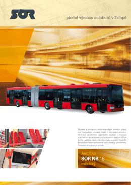 Autobus SOR NB 18 - katalogový list