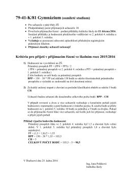 79-41-K/81 Gymnázium (osmileté studium)