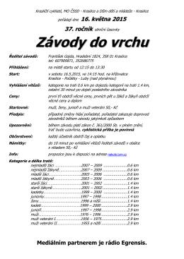16.05.2015 Závody do vrchu Kraslice