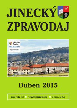 Jinecký zpravodaj - duben 2015