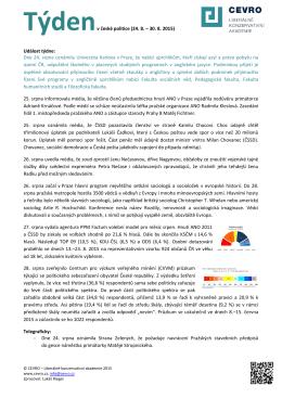 Týdenv české politice (24. 8. – 30. 8. 2015) Událost týdne: Dne 24