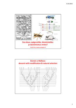 Evo-devo, epigenetika, biosémiotika: je darwinismus mrtev? Darwin