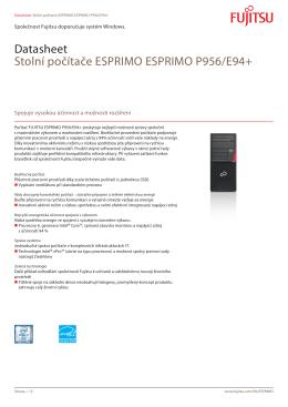 Datasheet Stolní počítače ESPRIMO ESPRIMO P956/E94+