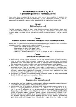 Nařízení města Zábřeh