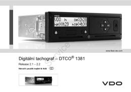 Digitální tachograf – DTCO 1381